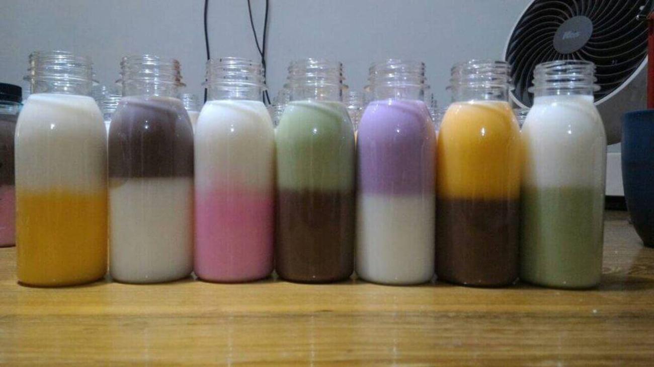 silky puding botol yang kekinian unik dan menarik, lucu ya