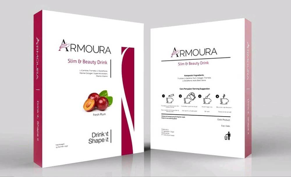 armoura adalah merek produk minuman penurun berat badan