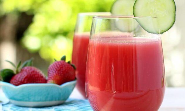 Jus Semangka Timun Strawberry untuk Menurunkan Berat Badan